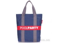Коттоновая сумка Poolparty Pool 82 darkblue grey red