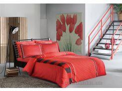 Постельное белье TAC Mabel V04 красный Семейный комплект