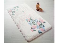 Коврик для ванной Confetti Flower garden pembe 80х140 см