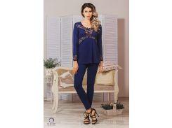 Пижама женская Violet delux П-М-40 синяя XL