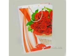 Подарочный пакет Розы PH-25х38