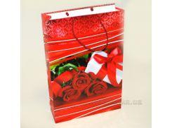 Подарочный пакет Красные розы PH-25х38