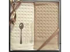 Набор полотенец ISSIMO кухня Ложка, вилка, нож 50х70 см - 2 шт