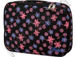 Чехол под ноутбук Derby 0680245 с принтом Цветы черный
