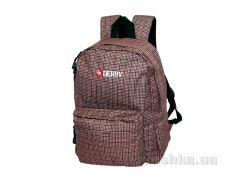 Городской рюкзак Derby 0170360 коричневые квадраты