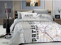 Постельное белье Le Vele Paris map Полуторный комплект