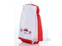 Набор полотенец для кухни Home line Грибы бело-красный 40х60 см - 2 шт