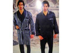 Набор мужской халат и пижама NS-9700-1 Nusa L синий