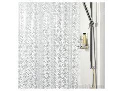 Шторка для ванной Spirella galet pvc 180х200 см цвет белый