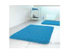 Коврик для ванной Spirella Highland голубой размер 55х55