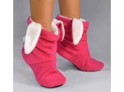 Детские домашние тапочки Slivki Зайчики розово-белые 26-27