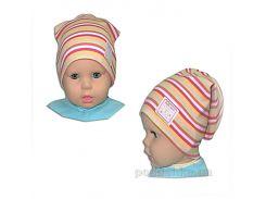 Детская шапочка для девочки Полосочки Габби 00666 50-52
