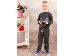 Реглан для мальчика Модный карапуз 03-00569 Темно-серый 122
