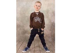 Реглан для мальчика Модный карапуз 03-00569 Коричневый 122