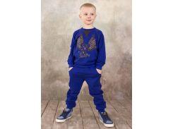 Реглан для мальчика Модный карапуз 03-00569 Ультрамарин 122