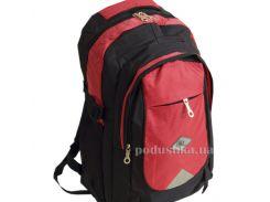 Рюкзак алый на черном Traum 7042-01