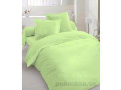 Комплект постельного белья TM Nostra Shadow lime Сатин однотонный светло-салатовый Двуспальный комплект
