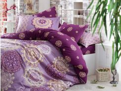Постельное белье Hobby Exclusive Sateen Ottoman фиолетовое Двуспальный евро комплект