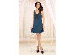 Ночная сорочка Violet delux НС-М-67 синий топаз S