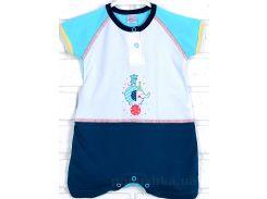 Песочник для малыша Татошка 16108 кулир бело-сине-голубой 74