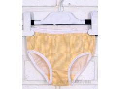 Трусы для девочки 11116 Татошка кулир бело-желтый в полоску 110