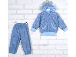 Спортивный костюм Татошка 08605 голубой джинс 80