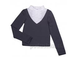 Блуза для девочки Юность Д1-126-л серая 32 (Р-128, ОГ-60, ОТ-60)