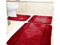 Коврик для ванной Spirella Balance красный размер 55х55