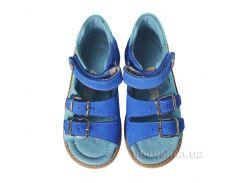 Детские босоножки Theoleo 134 горчично-голубые 22
