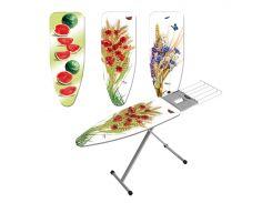 Доска гладильная Gimi Prisma 126x48x90 см GM00648 дизайн полевые цветы