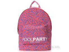 Рюкзак молодежный Poolparty Backpack leo pink