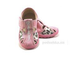 Тапочки детские Маша 21-27 розовые леопардовые Waldi 21