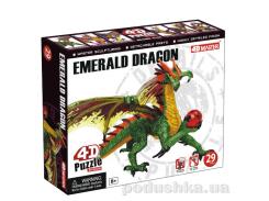 Объемный пазл 4D Master Дракон Изумрудный 26842