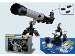 Телескоп(20х30х40)+микроскоп(100х...1000х)+принадлежности