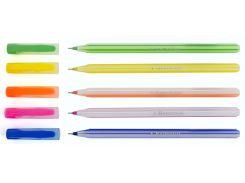Ручка шариковая Candy синяя 1 Вересня 411587 розовая