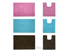 Набор ковриков для ванной ТМ МД Квадраты голубой