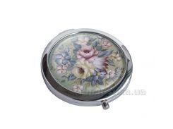 Зеркальце карманное Devays Maker Петриковская роспись Цветы 22-08-383