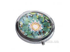 Зеркальце карманное Devays Maker Бирюзовые цветы 22-08-281