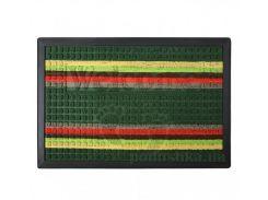 Коврик придверный с узором МД 40х60 см TZR09501/Grn зеленый полосатый
