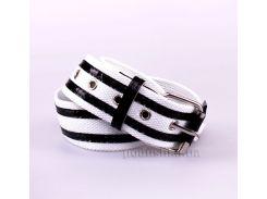Ремень Gloria Jeans 0019 черно-белый длина 75 см