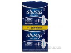 Гигиенические прокладки Always Ultra Night 14 шт