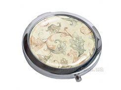 Зеркальце карманное Devays Maker Витажный узор 22-08-001