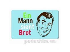 Доска-поднос для завтрака Classic Ein Mann sieht Brot 23,5х14,5см Emsa EM513547