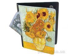 Холдер-паспорт из натуральной кожи Devays Maker Подсолнухи 29-01-038
