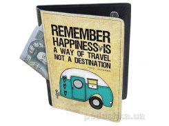 Холдер-паспорт из натуральной кожи Devays Maker Счастье 29-01-084