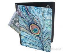 Холдер-паспорт из натуральной кожи Devays Maker Павлинье перо 29-01-156