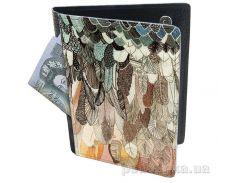 Холдер-паспорт из натуральной кожи Devays Maker Перья 29-01-170
