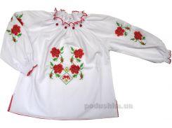 Вышиванка Трояндовий цвет для девочки Деньчик 1085 98