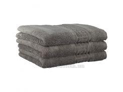 Махровое полотенце Cawoe Noblesse Uni 1001-779 graphit 50х100 см