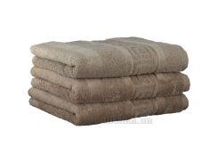 Махровое полотенце Cawoe Noblesse Uni 1001-375 sand 50х100 см